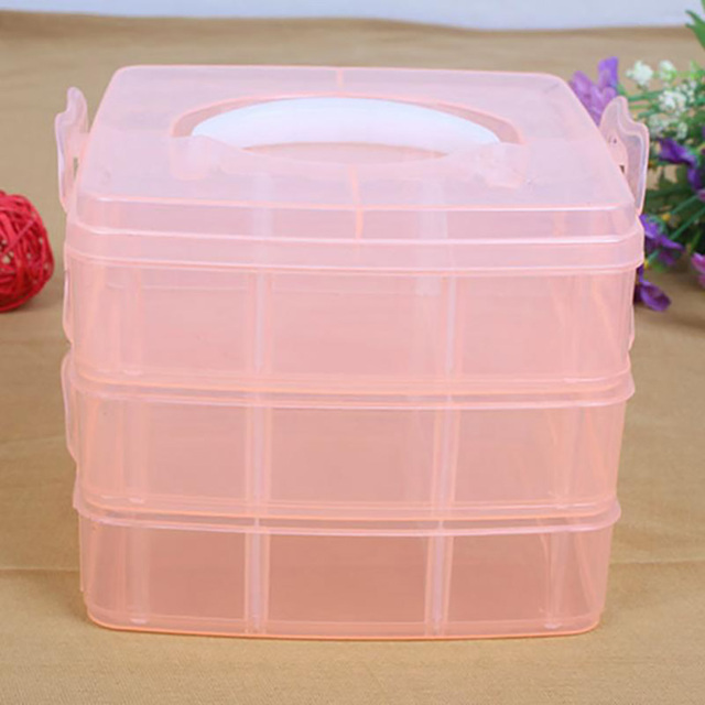 3 layers detachable DIY desktop storage box Jewelry Organizer Holder
