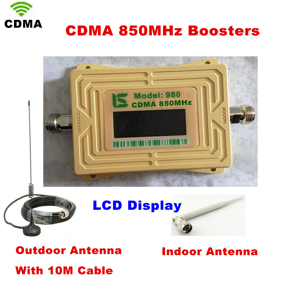 LCD Display UMTS GSM CDMA 850MHz Wireless Mobile Phone Repeater Signal Booster Signal Repeater Amplifier + Cable + AntennaLCD Display UMTS GSM CDMA 850MHz Wireless Mobile Phone Repeater Signal Booster Signal Repeater Amplifier + Cable + Antenna