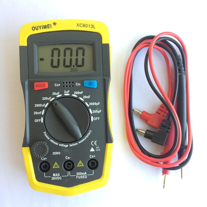 Digtital Capacitance Meter XC6013L Capacitor Tester nF pF mF uF Circuit Gauge Capacitance Meter Tester DigtitalCapacitance Meter цены