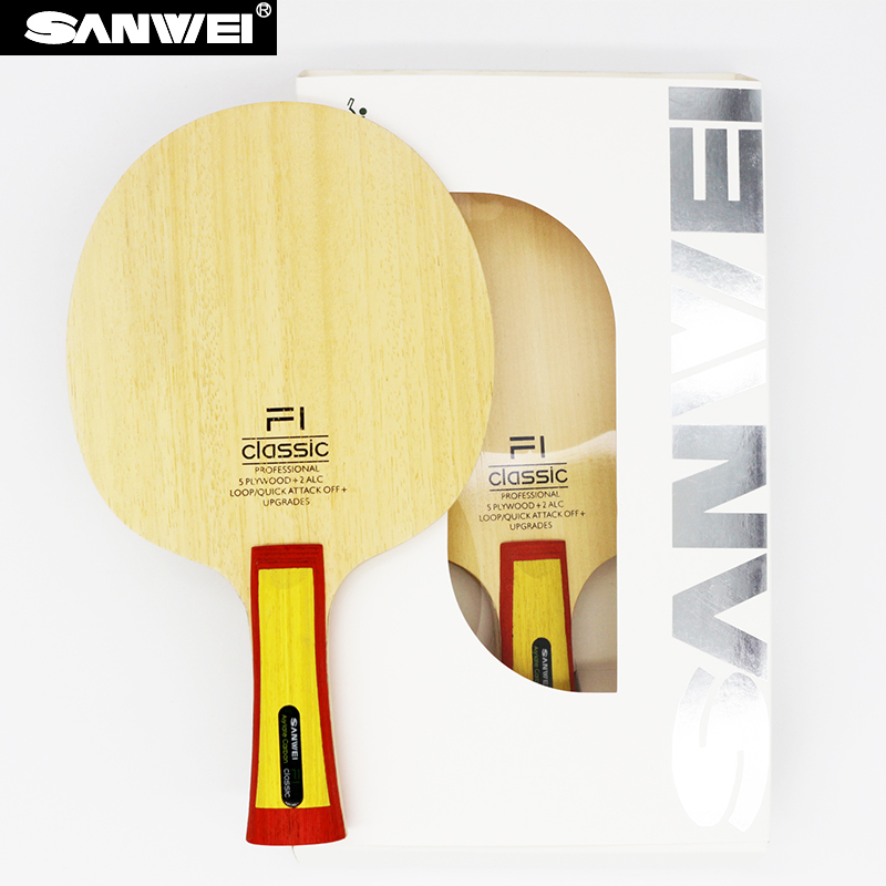 Sanwei F1 Classic (VISCARIA Structure ALC) Table Tennis Blade Arylate Carbon Ping Pong Bat