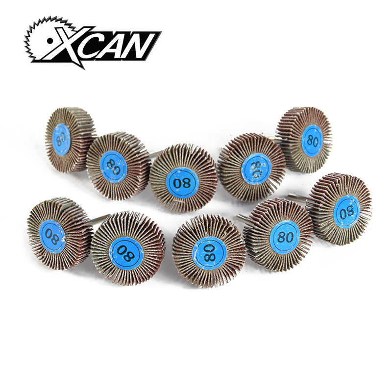 XCAN 10pcs 80# Impeller Grinding Wheel dremel rotary accessories tools for grinding polishing mx demel high quality 17pcs 1 2 felt polishing wheels dremel accessories fits for dremel rotary tools dremel tools small