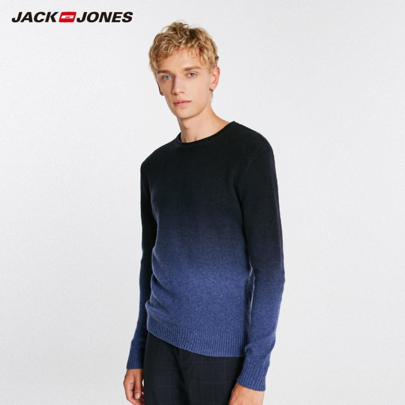 JackJones Autumn Men's Wool Gradient Pullover Casual Sweater Top Menswear   218424509