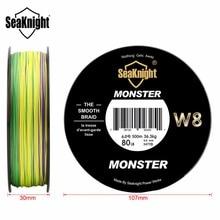 SeaKnight Monster W8 Multi-Color 8 Strands PE Fishing Line 300M 500M 15 20 30 40 50 80 100LB Smooth Braided Lines Carp Fishing
