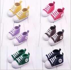 Novo Bebê Da Menina do Menino Sapatos Newborn Infants Toddlers Sapatos Casuais Fundo Macio Botas Primeiros Caminhantes