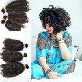 2016 Novo! peruano virgem Do Cabelo Humano afro kinky curly trama do cabelo 35G por o pc 4a/4b/4c 8A alta qualidade para a mulher preta