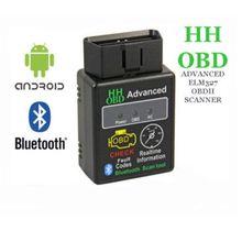 2016 Nueva Venta ELM327 HH OBD 2 II Bluetooth Car Auto Diagnóstico Scanner Tool Interface V2.1 Versión