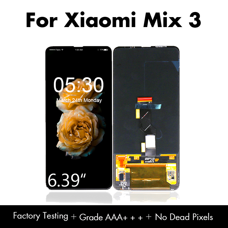 """6.39"""" for Xiaomi Mi Mix3 LCD Super AMOLED Display Screen Touch Panel Digitizer for Xiaomi Mix 3 Screen Smartphone Free Shipping"""
