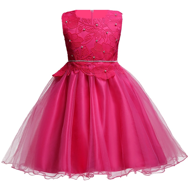 Flower Lace Girl Dress 2017 Elegant Fashion Tutu Christmas Party Dress for Girls Prom Wedding Birthday Pageant Dresses