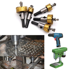 1 Pcs Carbide Tip HSS Steel Hole Saw Wood Drilling Hole Cut Tool Core Drill Bit Metal Drilling For Installing Locks 16mm-80mm