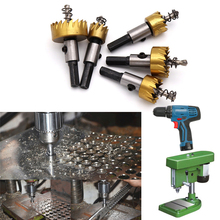 цена на 1 Pcs Carbide Tip HSS Steel Hole Saw Wood Drilling Hole Cut Tool Core Drill Bit Metal Drilling For Installing Locks 16mm-80mm