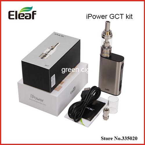 Original Eleaf iPower TC 80 W Caja Mod con 5000 mah Batería Cigarrillo Electrónico Vape con SMOK GCT tanque Kit