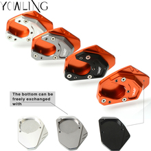 For KTM duke 125 200 250 390 690 990 Motorcycle Kickstand Side Stand Enlarger Foot Side Stand Extension Plate Pad with DUKE Logo