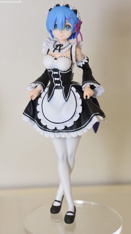 Toys & Hobbies New Arrival Re:life In A Different World From Zero Anime Action Figure Rem Ram Maid Sitting Ver Model Kneeling Decoration Doll 50% OFF