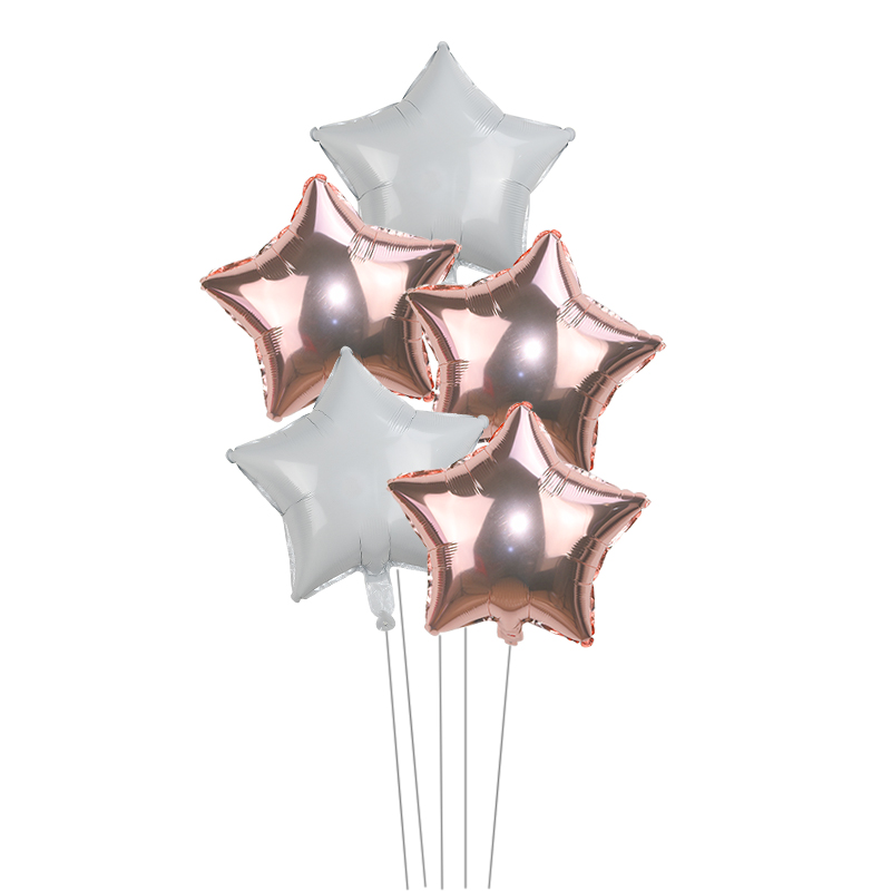 Купить 5 шт 18 дюймовый золотой серебряный шар звезда из фольги свадебные