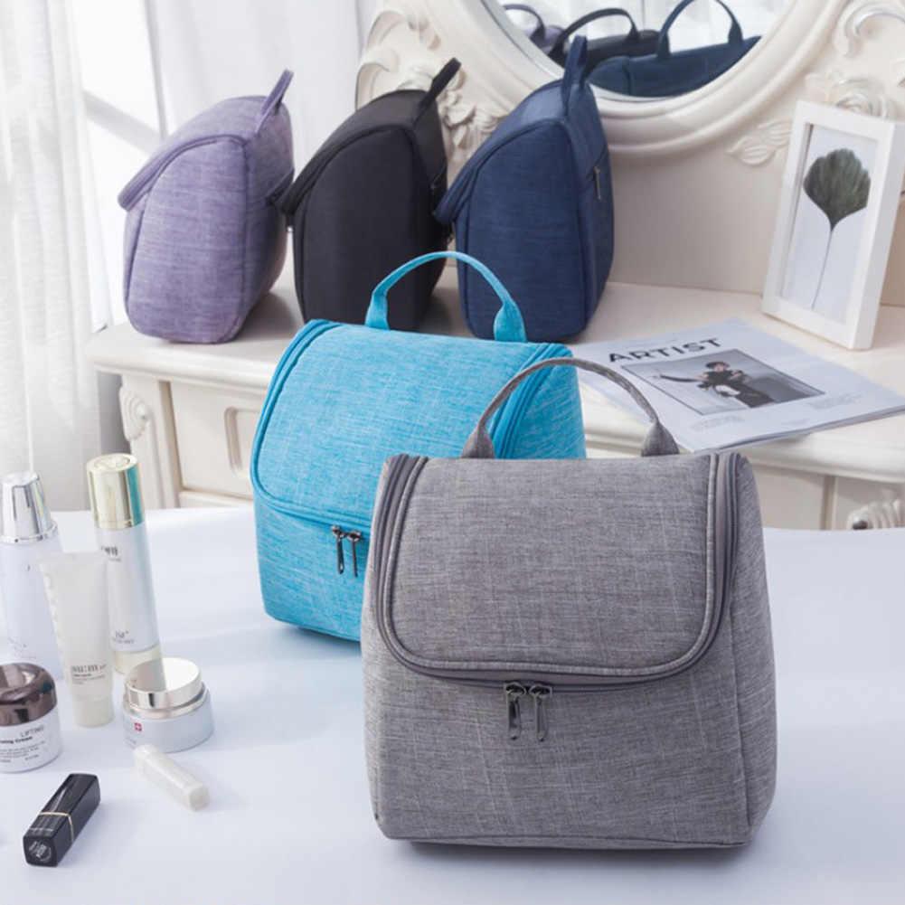 818e1c58126f Women Portable Travel Cosmetic Bags Waterproof Zipper Makeup Toiletry Bag  Large Capacity Bathroom Hanging Organizer Beauty