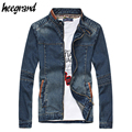 Jacket Men 2017 New Fashion Denim Zipper Cool Casual Slim Fitness Spring Style Plus Size 5XL Jacket Men MWJ1659