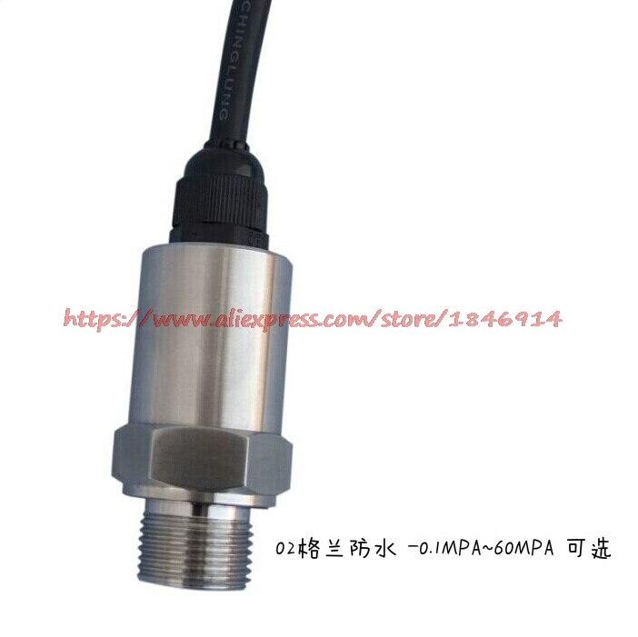 Free shipping Glenn waterproof pressure transducer sensor PT210B 4-20MA 0-10V 0-5V -0.1-60MPA