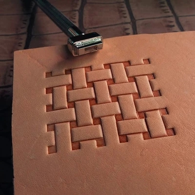 Leather Carving Tool DIY Hand Made Steel Matt Printing Tool Emboss Stamp