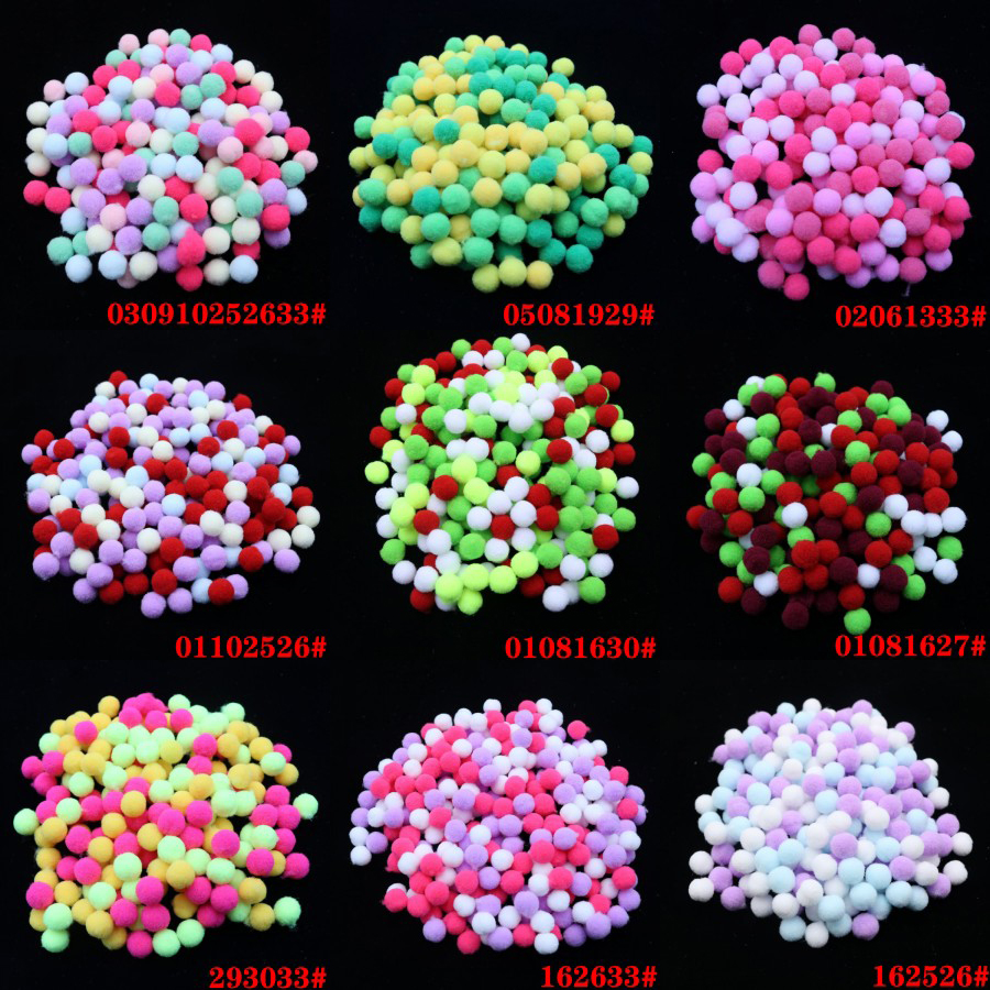 10mm 400pcs Soft Plush Balls Multicolor Pompom Fur Ball for Home Party DIY Craft Kids Favors Manual Educational Toy Balls 1cm in Artificial Dried Flowers from Home Garden