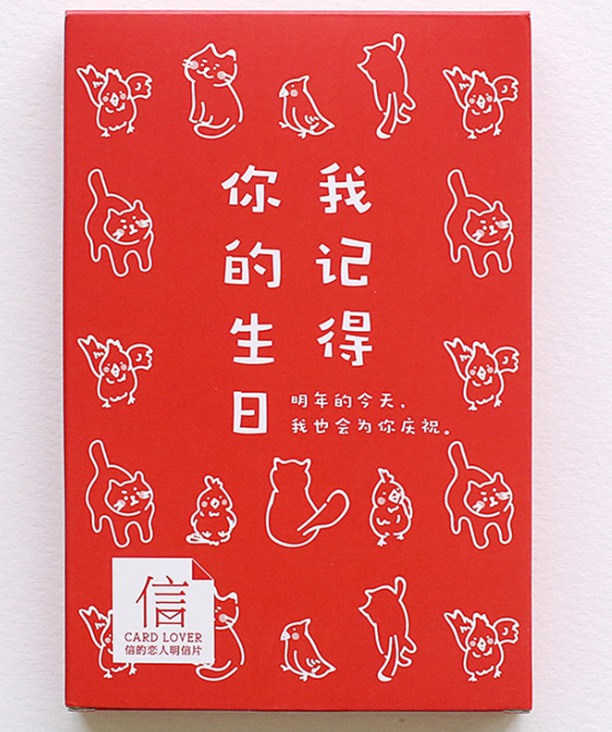 A90- Remember Birthday Paper Postcard(1pack=30pieces)
