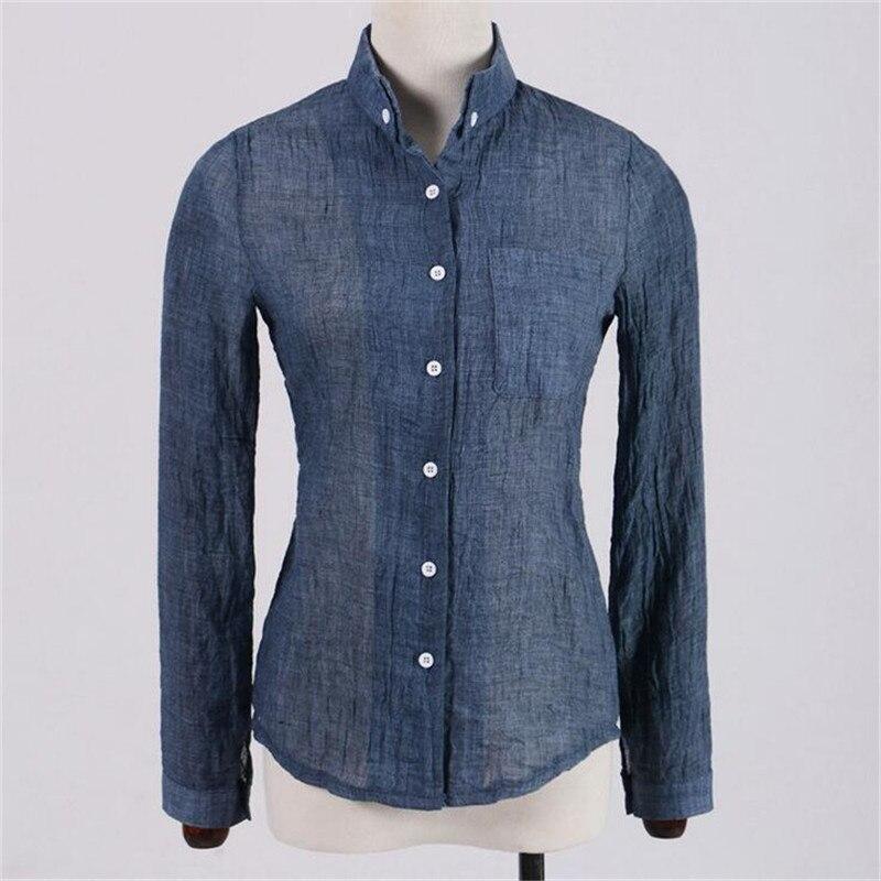 Good Quality Linen Big Size Women Blouse Shirt 2017 Summer