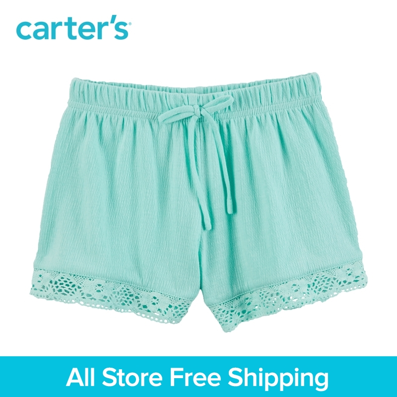 Carters 1pcs toddler girl Lace-Trim Crinkle Shorts 258G612,sold by Carters China official store