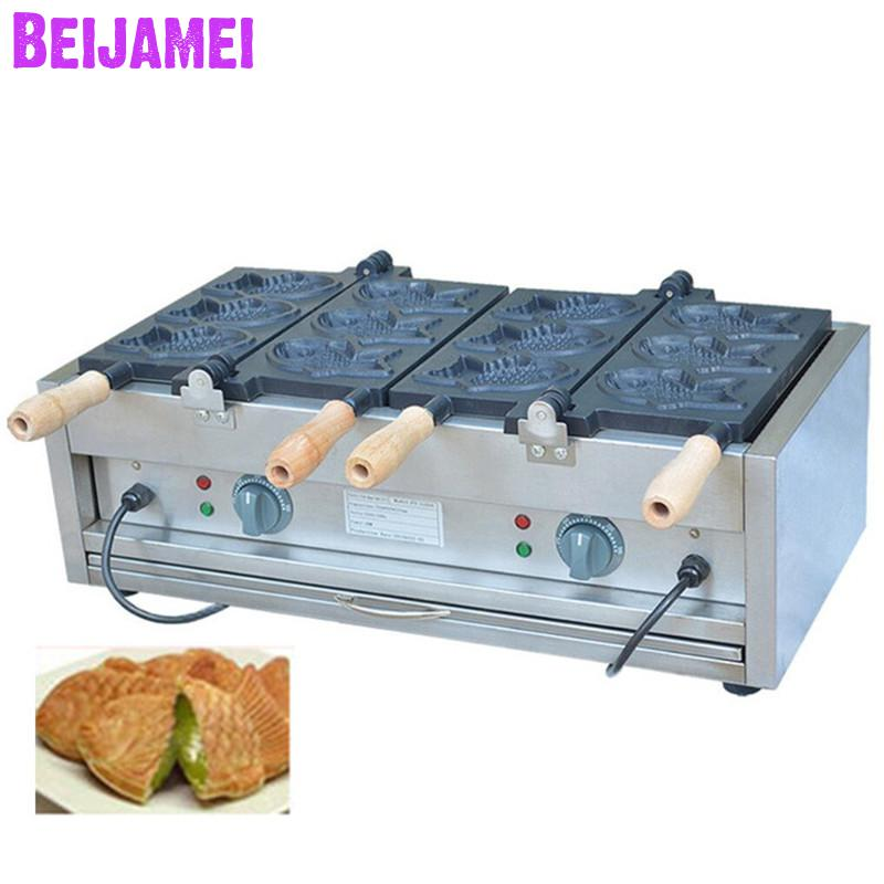The Best Beijamei 6 Fishes Electric Taiyaki Making Machine Commercial Taiyaki Waffle Maker Machine Fish Cake Making Machine Providing Amenities For The People; Making Life Easier For The Population