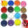15 cores de pintura facial cor maquillage 30g halloween maquiagem schmink pigmento body art modelo único marcador maquiagem pintura corporal