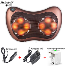 Massage Pillow Vibrator 8 balls Electric Shoulder Back Heating Kneading Infrared therapy for shiatsu Neck D50