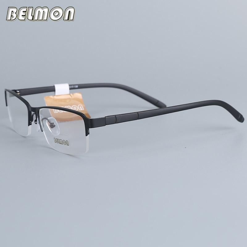 Belmon Brillen Rahmen Männer Computer Optische Verordnung Myopie Nerd Klare Linse Auge Brille Spektakel Rahmen Für Männliche Rs16005 Bequem Zu Kochen Herren-brillen