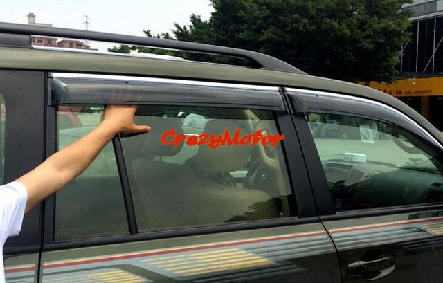Para Toyota Land Cruiser LC200 2008 - 2016 janela Visor ventilação sombra chuva / sol / guarda vento 4 pcs