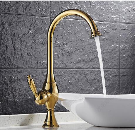 Bathroom Water Tap New Kitchen Faucet Torneira Cozinha Lavabo gold Basin Faucet Brass Water Tap Sink Basin Mixer Tap Faucet kemaidi high quality brass morden kitchen faucet mixer tap bathroom sink hot and cold torneira de cozinha with two function
