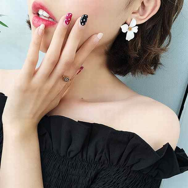 MENGJIQIAO 2018 New Korean Style Spray Paint Big Flower Stud Earrings For Women Fashion Summer Accessories Elegant Sweet Brinco