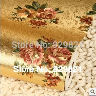 Italy Vintage Floral Wallpaper Background Embossed Waterproof for Living Room Wall Paper Home Decor Luxury Gold Foil Rose Flower luxury modern gold foil embossed flower reflective eco friendly wallpaper roll backdrop tv background wall paper floral
