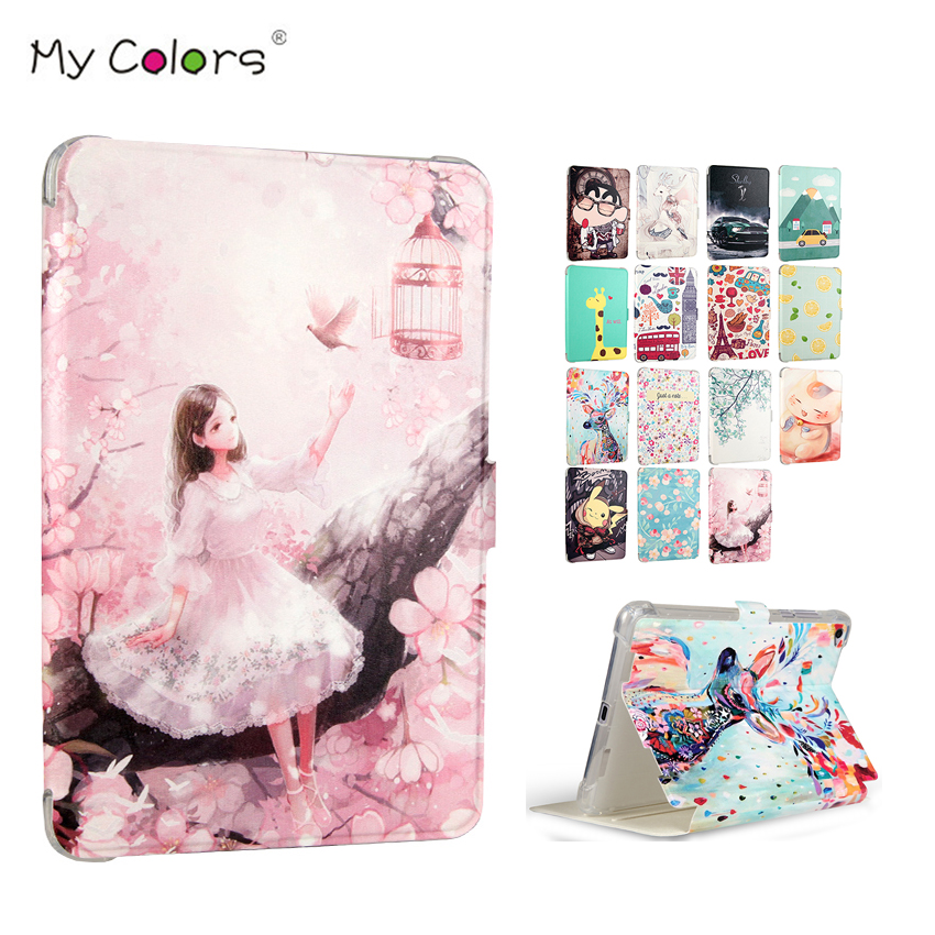 MiPad 2 3 PU Leather Case Cover 7.9'' Smart Tablet PC Fundas Colorful Print For Xiaomi mipad 2 Mi Pad 2 3 Protective Stand Skin все цены