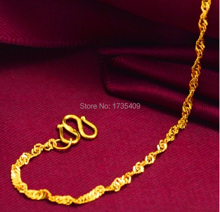 """17.9 """"999 solide 24 K or jaune chaîne collier/mariage chaîne collier/3g-in Colliers chaîne from Bijoux et Accessoires    2"""