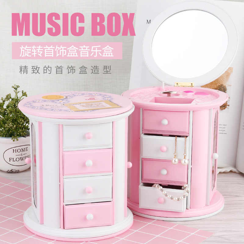 d386875f2 Hello Kitty small drawer storage KT cat music box Creative holiday gifts  for girls and children