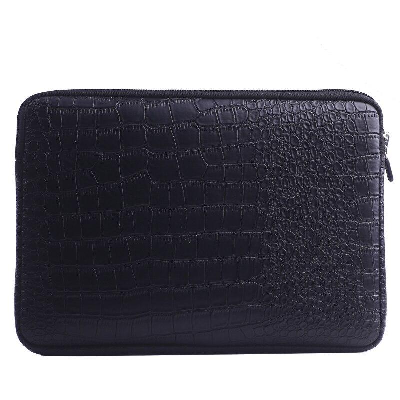 Saco Luva Do Portátil Notebook Case Capa Bolsa de Couro à prova d' água Para 12 13 15 polegada Ar Macbook Pro Retina