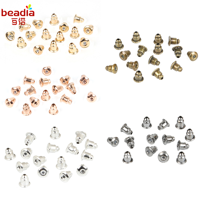 1set Plastique Tube Silicone Anti-cravate D'oreilles Plastic Earring Caps Earring Stud Hook Earrings Stoppers Jewelry Parts Diy