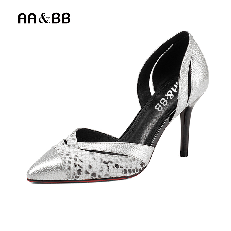 AA&BB New style spring and autumn shallow high heel shoes sexy thin heel women shoes leather pumps ladies shoes hollow shoes qiu dong in fashionable boots sexy and comfortable women s shoes the new national style high heel heel thick heel