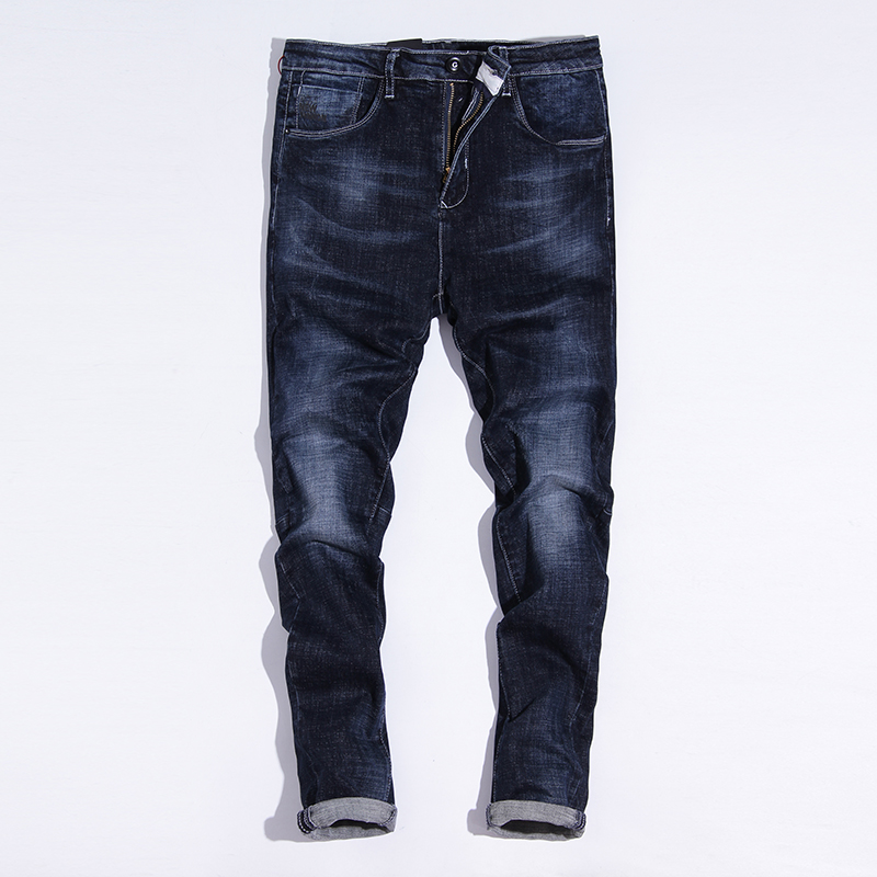 2017 autumn new men's straight jeans male winter youth loose large size casual stretch trousers jeans men denim cotton pants afs jeep mens jeans autumn men loose casual straight denim trousers plus size 42 cowboy jeans male man clothing botton