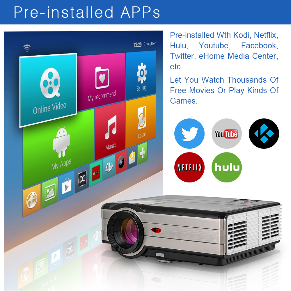 0a817cab0 ... LED Light Beamer Home Theater Cinema Audio Video TV for Smartphone  Laptop-in LCD Projectors from Consumer Electronics on Aliexpress.com