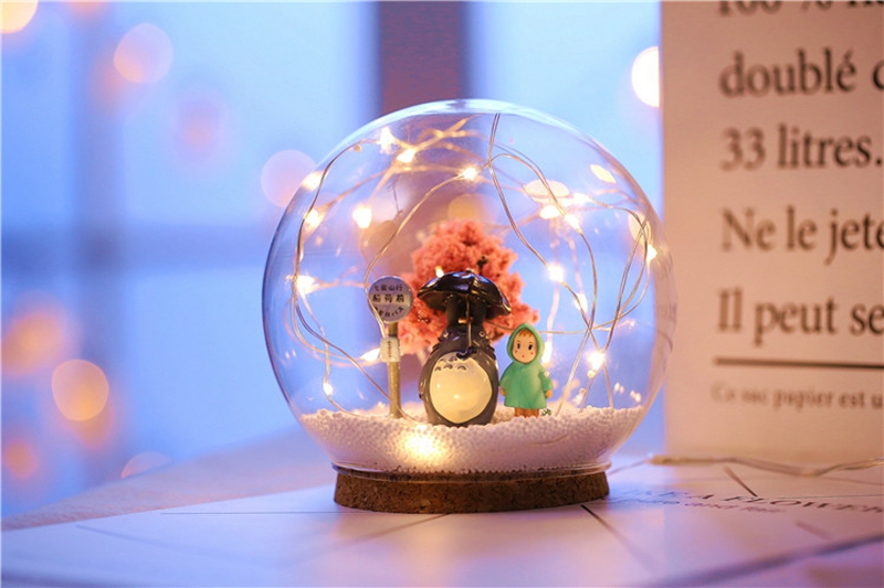 Creative LED Crystal Ball Design Table Lamp Room Decor Bedside Night Light For Girls Baby New Year Christmas Birthday Gift (11)