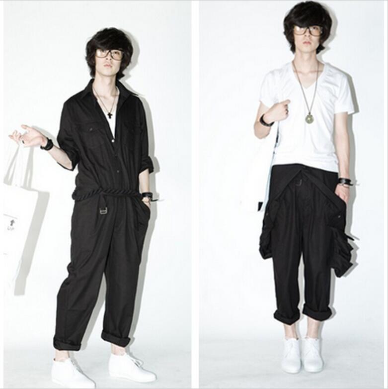 2017 Neue Männer Bekleidung Fashion Stylist Overalls Overalls Rand Freizeithose Plus Größe Sängerin Kostüme Attraktive Designs;