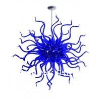 C31 Free Shipping Fabulous Blue Glass Ball Chandelier