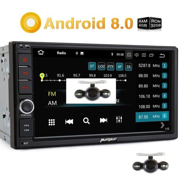 Pumpkin 4GB RAM 32GB ROM 2 Din 7''Android 8.0 Universal GPS Navigation Car Stereo Radio No DVD Player Wifi 4G Fast Boot Headunit