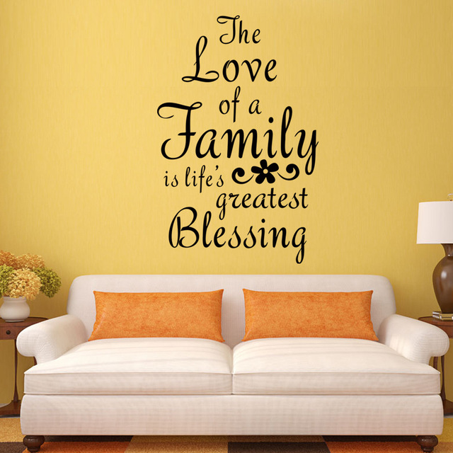 DIY Family Love Letter Wall Stickers Removable Living Room Poster ...