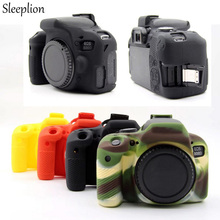 Sleeplion Nice Soft Silicone Rubber Camera Bag Protective Body Cover For Canon Eos 800D DSLR Camera Battery Cover Opening стоимость