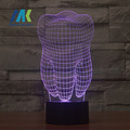 Free Shipping Teeth Type 3D Led Lamp Dental Creative gift Colorful 3D Tooth gradient light  Dental Clinic artwork Artware