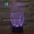 O Envio gratuito de Dentes Tipo 3D Conduziu A Lâmpada Dental Dental Clinic presente Criativo Colorido 3D Dentes luz gradiente arte Artware
